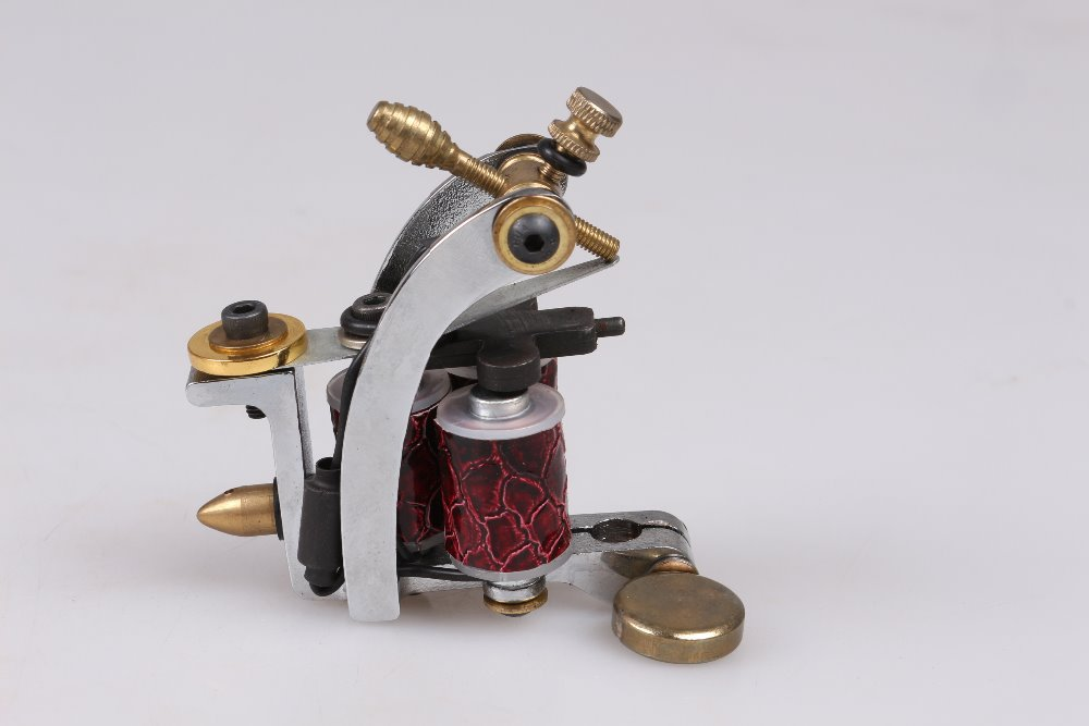 Brazil top quality casting iron Carbon Steel 3 Copper Coils Classical Frame Shader Tattoo gun Machine(China (Mainland))