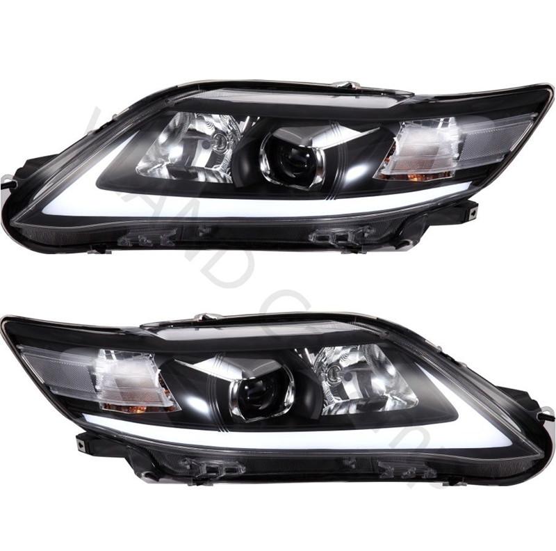 Car Styling DRL Set LED Lightbar Projector Len Headlight Head Lamp Turn Light For 2009 2010 2011 Toyota Camry(China (Mainland))