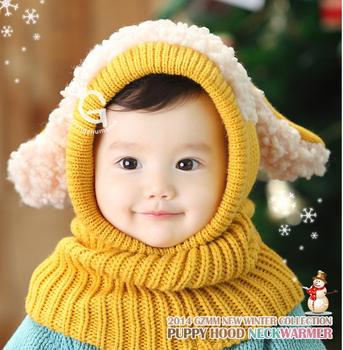 Прекрасный щенок моделирование младенцы зима шляпа для дети шляпа утолщаются тёплый ...