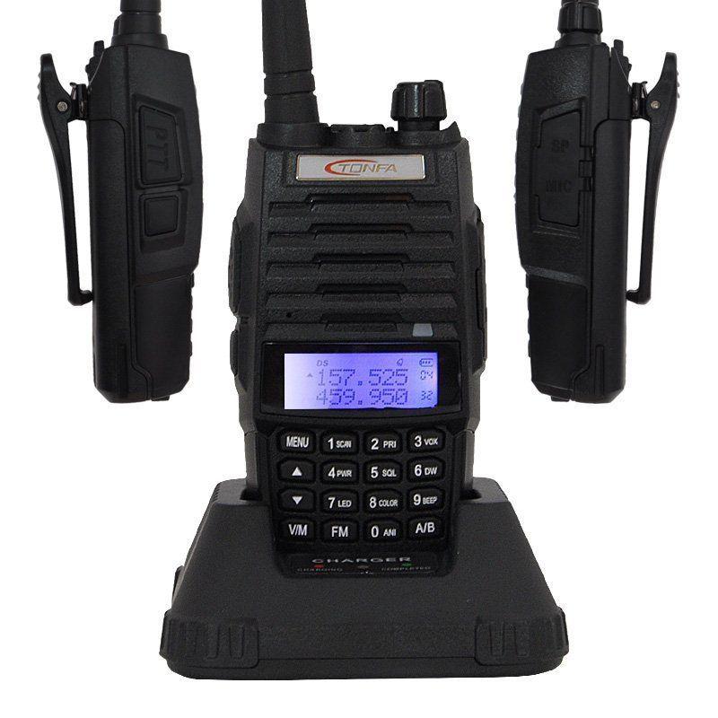 Xgody Brand New TONFA TF-Q5 UHF+VHF Dual Band 10W FM Best Walkie Talkie Ham 2 way Radio Long Range Portable Radio US IN Stock(China (Mainland))