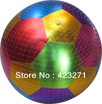 Free Shipping Hot Sale 50cm Inflatable Fabric Covered Mega Ball Beach Garden Soccer Ball Multicolor Wholesale and Retail