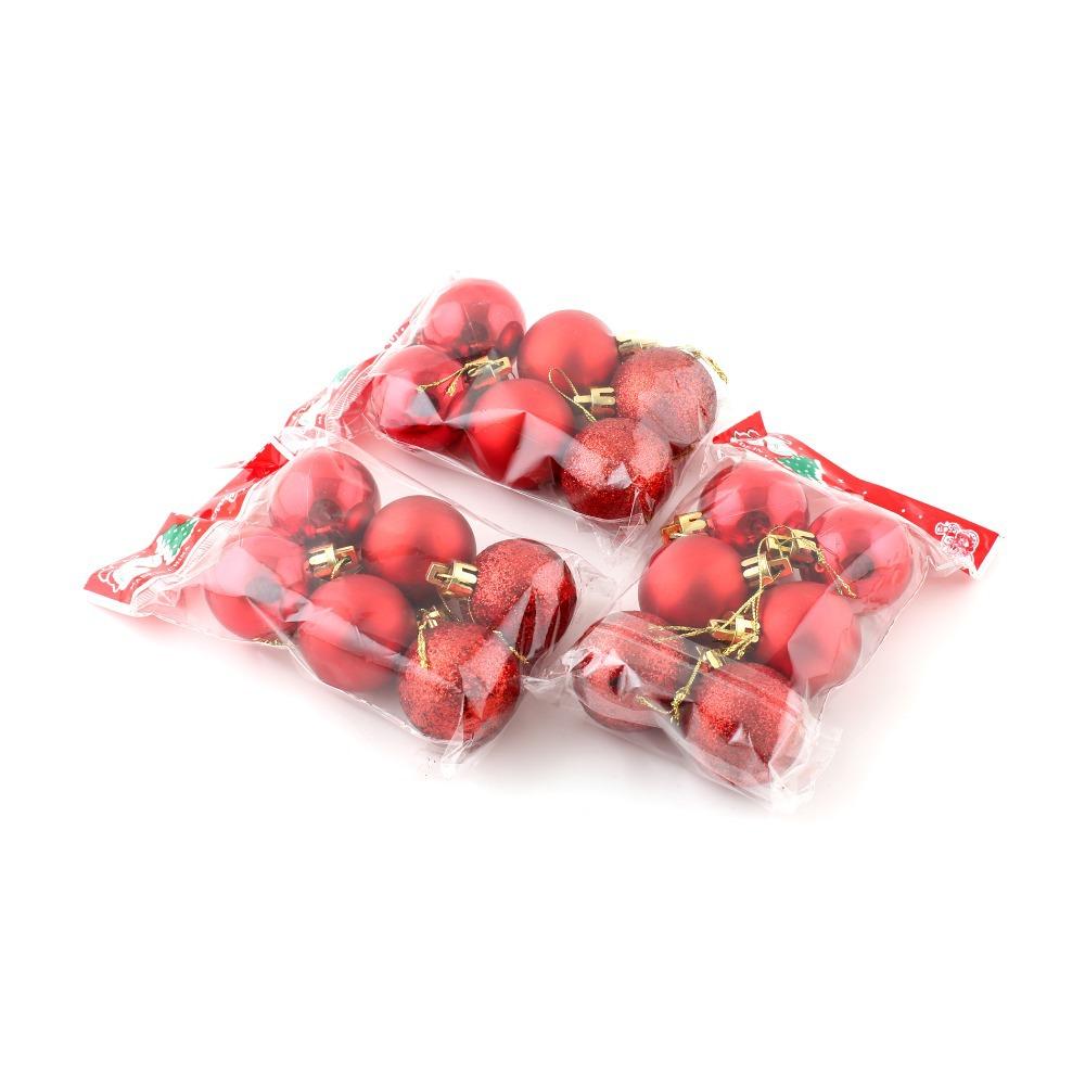18 pz palle decorazioni per l'albero di natale rosso appeso palla abiti decorazione del partito(China (Mainland))