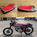Free Shipping Cafe Racer Retro Refit hump seat cushion White trim motorcycle Red background seat cover
