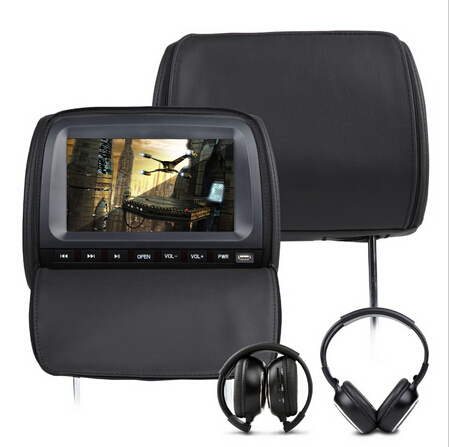 """2x9"""" Black Color digital Screen Car Headrest DVD Player with 8 Bits & 32 Bits Games for volkswagen/honda/toyota(China (Mainland))"""