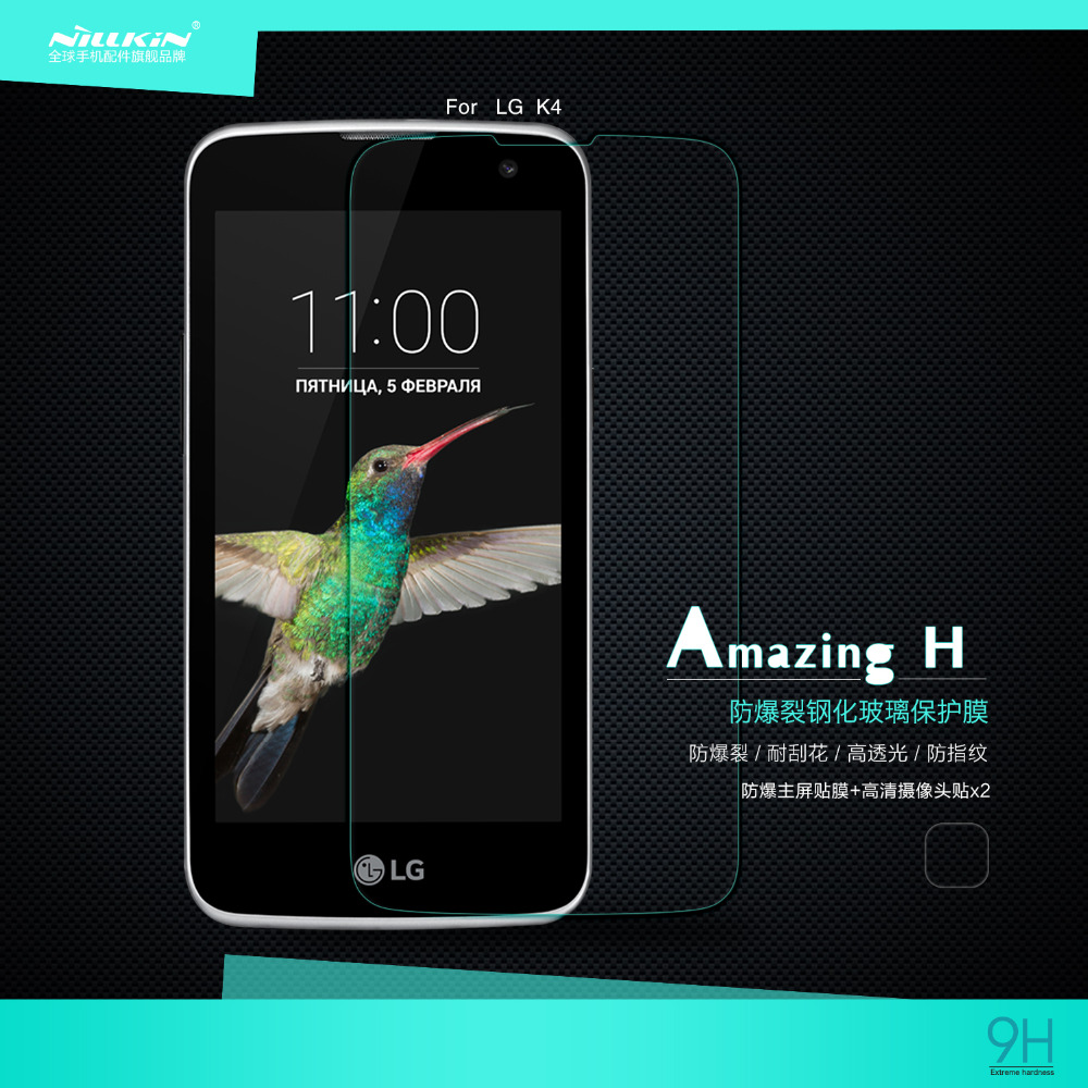 Nillkin Glass Film For LG K4 screen protector H glass film anti-burst glass protective film for LG K4 screen film(China (Mainland))