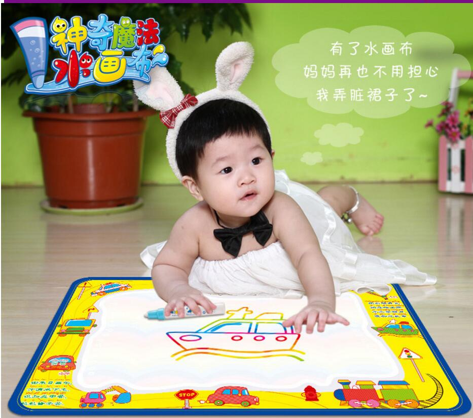 50x34cm Baby Kids Add Water with Magic Pen Doodle Painting Picture Water Drawing Play Mat in Drawing Toys Board Gift Christmas(China (Mainland))
