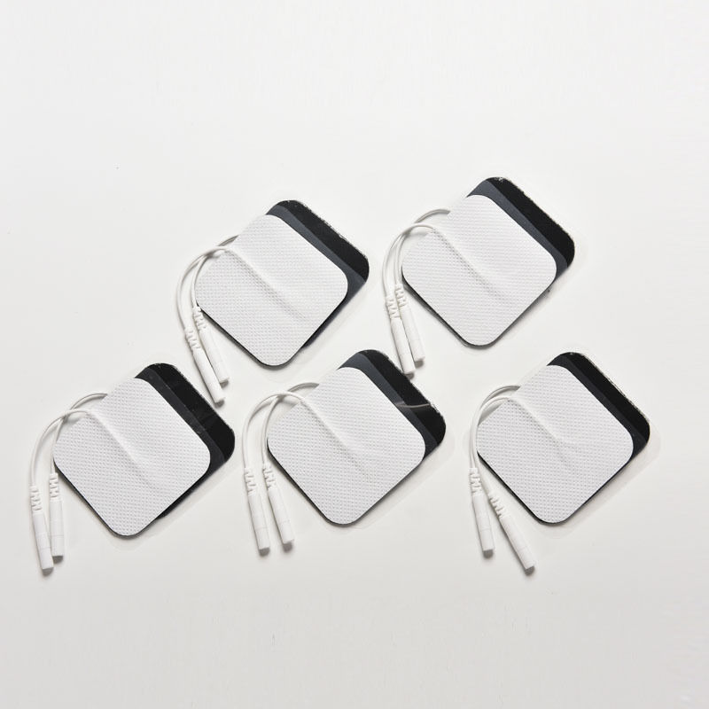 10pcs Electrode Pads Tens Electrodes for Tens Digital Therapy Machine Massager 5x5cm Nerve Stimulator with 2mm Plug Body Care(China (Mainland))