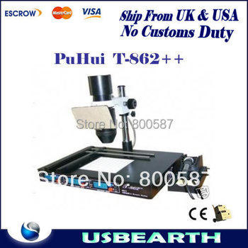 Ship from UK, No tax !! PuHui IRDA Welder T862++ BGA rework station T-862 SMT/SMD Soldering Machine