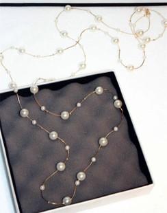 HTB1dkP7JFXXXXafXXXXq6xXFXXXD - White Simulated Pearl Jewelry Multi-Layer Long Necklace Women Bijoux Fashion Classic Beads Chain Necklaces & Pendants Gift