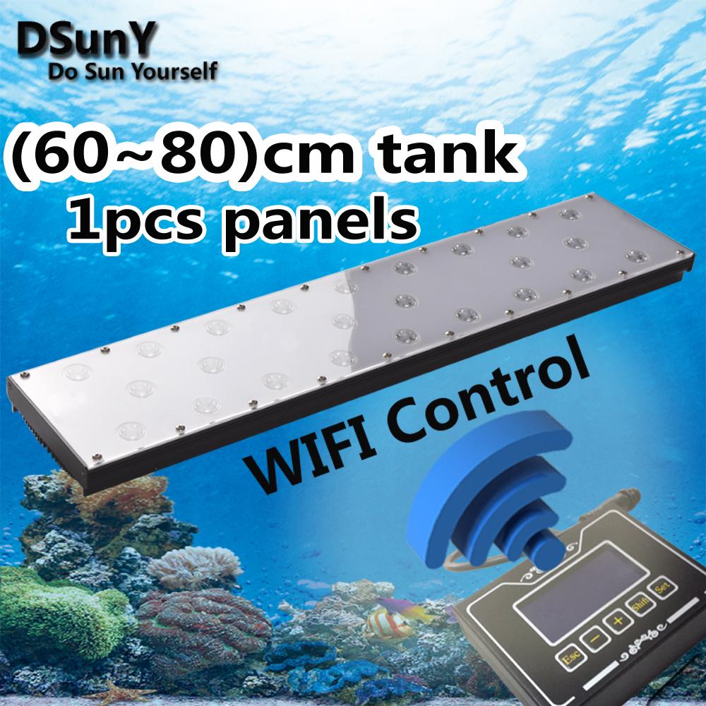 DSunY WIFI control 4 channel 24'' LED 60W Aquarium for Full Coral Reef Fish Tank Marine Lamp lighting, sunrise sunset 4 seasons(China (Mainland))