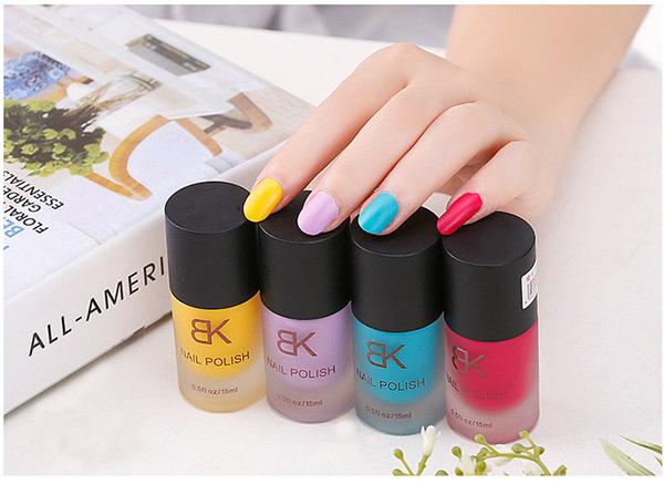 2015Free Shipping BK matte nail polish candy color nude matte nail polish color all 26 colors can choose Gel nail polish(China (Mainland))