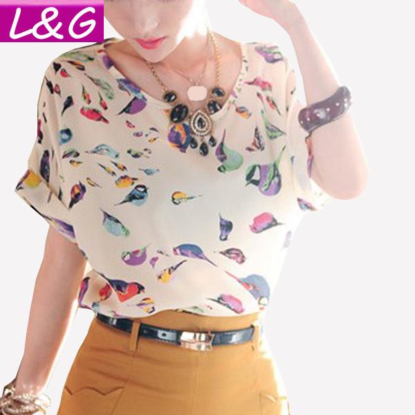 Summer Style 2015 Women Blouses Hot Selling Vintage Flower Print Chiffon Camisa Blusa Feminina Plus Size Shirt Ropa Mujer 40012(China (Mainland))