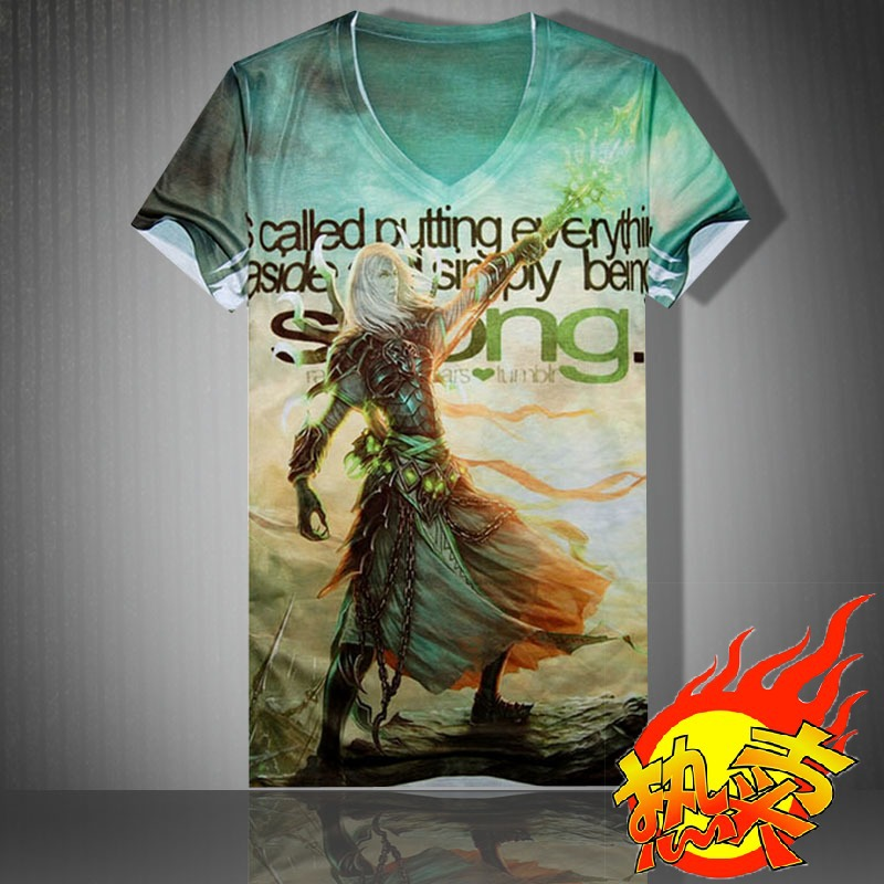 2015 New Cross Country t-shirts / motorcycle car service / Printed t-shirt tide male / short-sleeved T-shirt T95(China (Mainland))