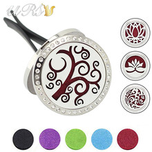 Buy 30mm magnetic diffuser stainless steel car aromatherapy locket free pads essential oil car diffuser locket wholesale accessories for $5.10 in AliExpress store