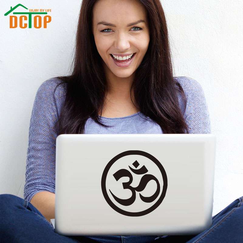 DCTOP Om Symbol Hindu Yoga Vinyl Art Laptop Sticker Removable Waterproof Wall Stickers Home Decor(China (Mainland))