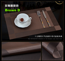 Walfos new set of 2 square pvc placemat dining pvc restaurant dining table mat anti-slip table place mat dinner table mat(China (Mainland))