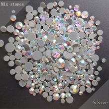 Исправление стразы 2500 шт. сочетание размера высокое качество блестящий crystalab стразами приклеить обратно железа на горный хрусталь использование для платья