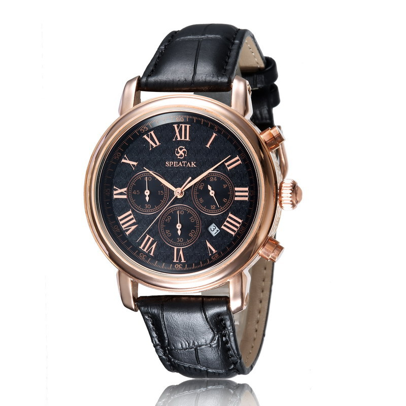 Top Classic Business Mens Watch hand Genuine Leather strap 30M Waterproof  Men Fashion Wristwatches<br><br>Aliexpress