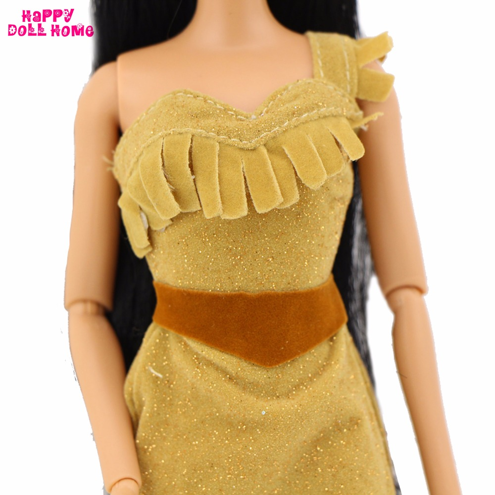 Indian Fairy Story Princess Gown Dancing Marriage ceremony Social gathering Outfit Copy Pocahontas Costume Garments For Barbie Doll Fake Play Toy