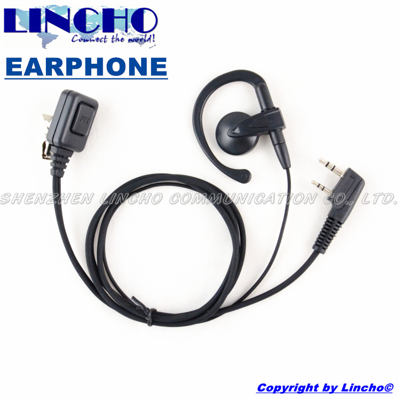 Durable two way radio professional big PTT button mic clip earphone earpiece for most china walkie talkie(China (Mainland))