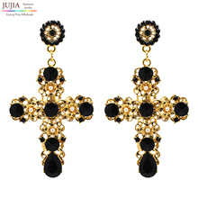 New Arrival fashion women big vintage statement  Earrings for women lady girl party stud earring Factory Price(China (Mainland))