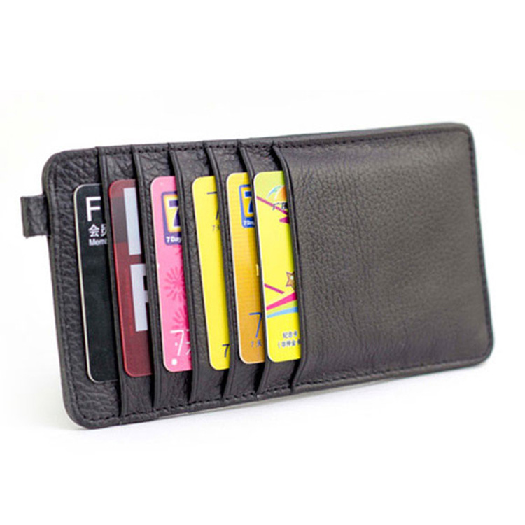 New Arrival Fashion Ultra-thin Multi Card Places Card Holder Men Women 100% Genuine Cow Leather Wallet Card Bag,JG3053(China (Mainland))