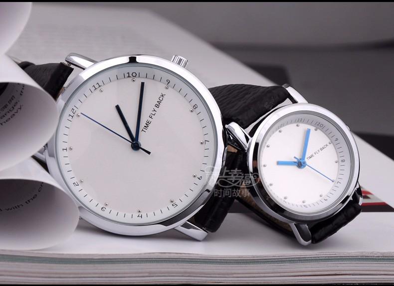 Марка 1 Пара Мода Классические Влюбленных Часы Мужчин и женщин Против часовой стрелки Кварцевые Наручные Часы Логотип Индивидуальные Для Подарка