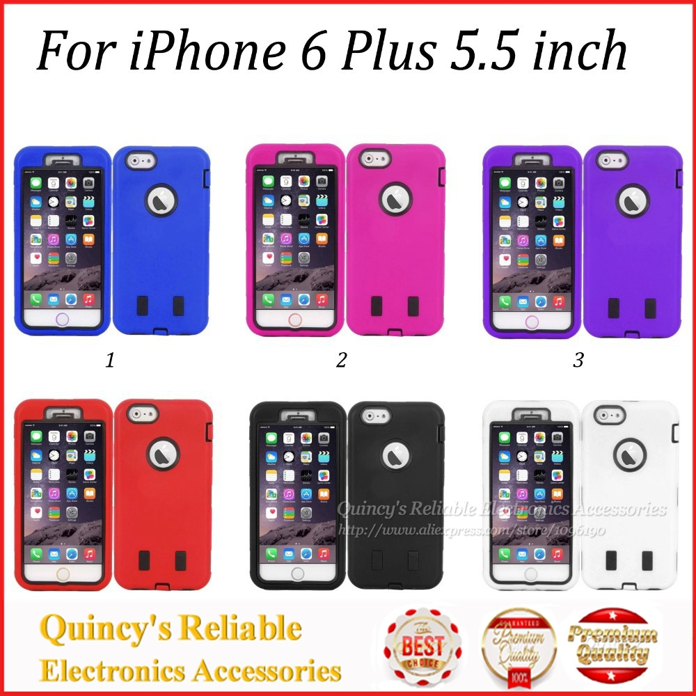 10Luxury Ultra Thin Silicon Plastic Hybrid Armor Case iPhone 6 Plus 5.5 inch Hard Back Cover Bag - QUINCY ELECTRONICS ACCESSORIES store