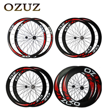 Buy OZUZ 38mm 50mm 60mm 88mm depth Clincher Carbon Road Bike Bicycle Wheelset Powerway R13 Hub Super Light Full Carbon Wheels for $319.20 in AliExpress store