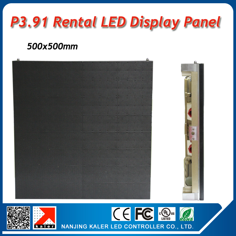 Indoor led video panel 500x500mm P3.91mm 0.25sqaure meter display wall rental cool golden led display panel(China (Mainland))