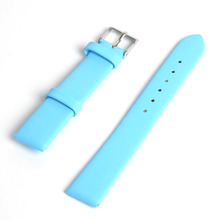 2015 New Fashion Plain Matte Soft Durable PU Leather 7 Candy colored Waterproof Watch Strap Men