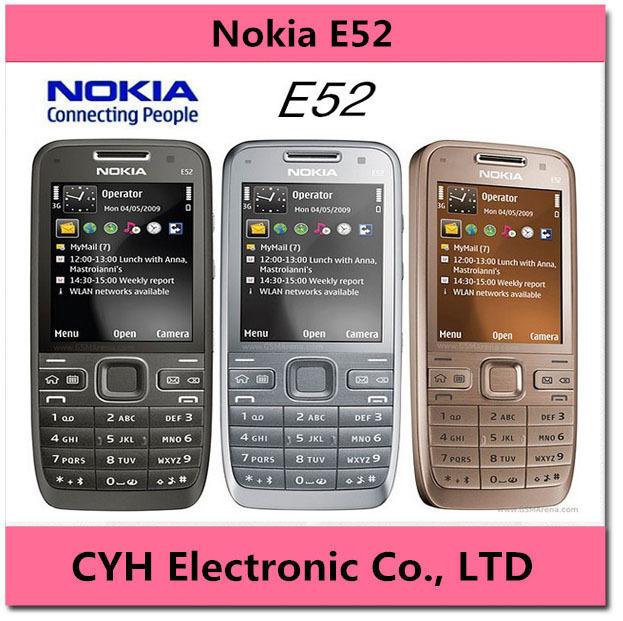 Unlocked Nokia E52 Original 3G Mobile Phone Camera 3.2MP Bluetooth WIFI GPS Refurbished Cell Phone Support Russian Keyboard(China (Mainland))