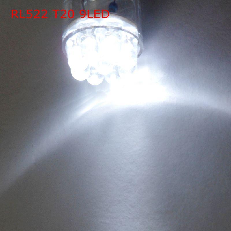 RL522 T20 9LED Free shipping (10pcs/lot)  W21W  automobile led  brake lights 12v 7440 7443  Turn bulbs Stop lights<br><br>Aliexpress