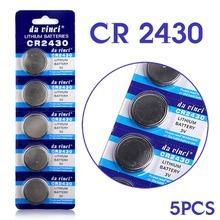 Button battery 5 Pcs 3V Lithium Coin Cells Button Battery CR2430 DL2430 BR2430 ECR2430 KL2430 EE6229