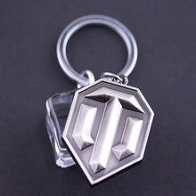 10PCS/LOT WOT Game World of Tanks Keychain Tanks Key Chain Cool Accessories Jewelry Wholesale Gift for Men Boyfriend