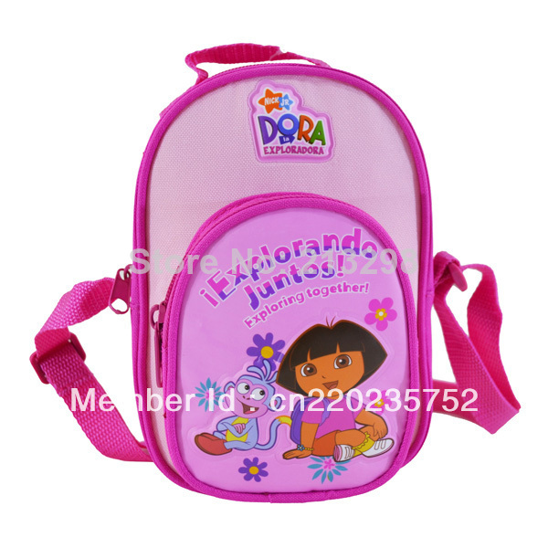 mini Dora game bag for girls, cartoon pink cross body bags for baby, Free shipping(China (Mainland))
