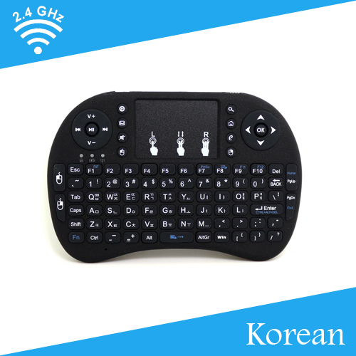 [Free Shipping] Multi-Function Mini 2.4G Wireless English/ Korean Keyboard+TouchPad for Android TV Box/IPTV High Quality(China (Mainland))