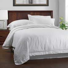 100%LINEN STONE WASH Bedding  SET Duvet cover and pillow case  with Embroidery linen(China (Mainland))