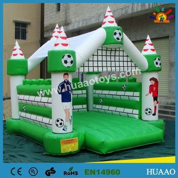 Commercial PVC football sports inflatable boucer castle for sale with free shipping