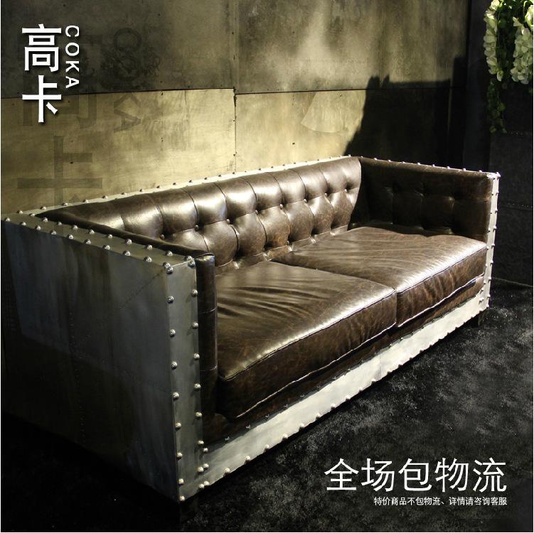 Meubles de style europ en en cuir v ritable canap for Canape style loft