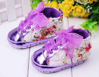 2015 baby toddler shoes baby girl lace soft-soled shoes / sneakers & Roses baby canvas shoes free shipping L51