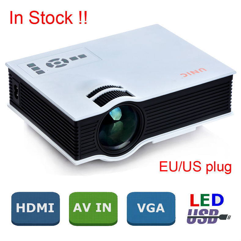 product New 2015 Korea Asli Baru UC40 Proyektor Mini Pico Portabel Proyector Beamer Av A / V USB & SD HDMI proyektor Multi Bahasa