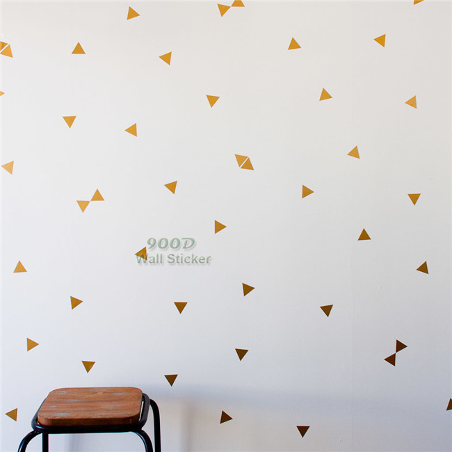 Gold Triangle Wall Sticker Removable Home Decoration Art