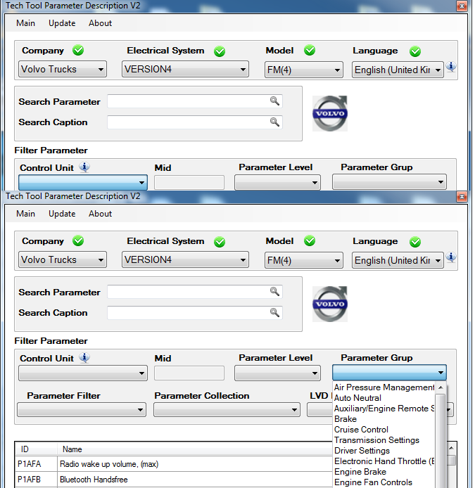 Volvo Tech Tool Parameter Description V2 Multilanguage