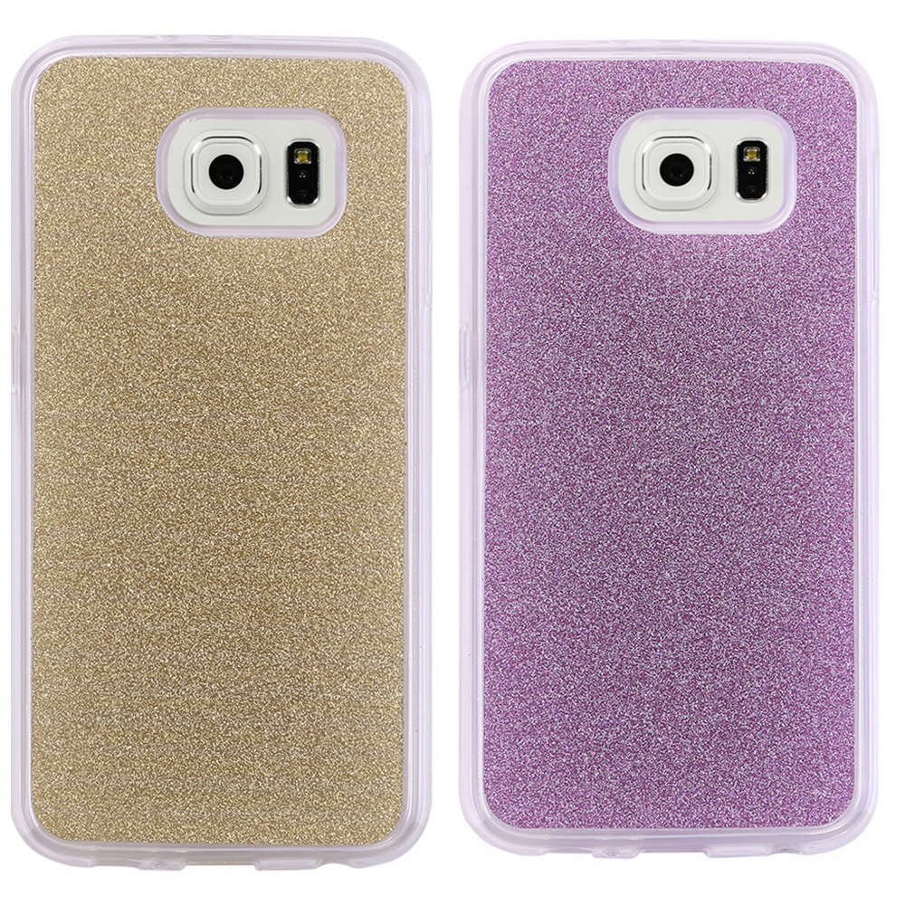 for Samsung Galaxy S6 G9200 Fashion Luxury Bling Case Color Shining Back Cover Shell New Arrival(China (Mainland))