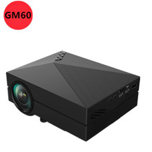 WHOLESALE 2015 NEWEST Portable GM60 MINI LED   Projector For Video Games TV Movie SD FULL HD Home AND OUTDOOR Theater FREE GIFT(China (Mainland))