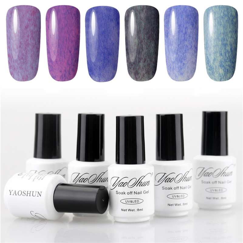 Yaoshun 6pcs UV Soak Off Nail Gel Polish Hot Sale DIY Nail Art Faux Fur Gel Perfect Summer Led Long Lasting Gel Polish<br><br>Aliexpress