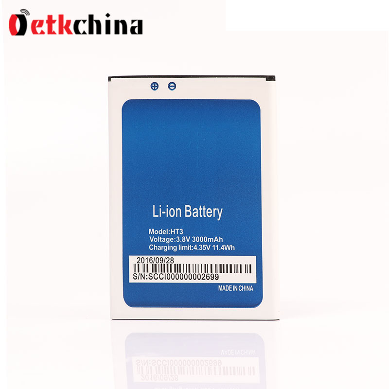 Homtom HT3 Battery Replacement 3000mAh Mobile Phone Battery Rechargeable Universal Backup Battery Homtom HT3 Pro