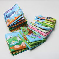 One Piece Retail Baby Toys Infant Kids Early Development Cloth Books Colorful Educational Unfolding Activity Book