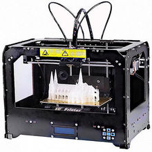 CTC FDM Colour plastic 3D printer based on open source printer with 2 extruders